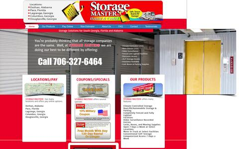Screenshot of Site Map Page storagemasteronline.com - Storagemaster - captured Aug. 16, 2015