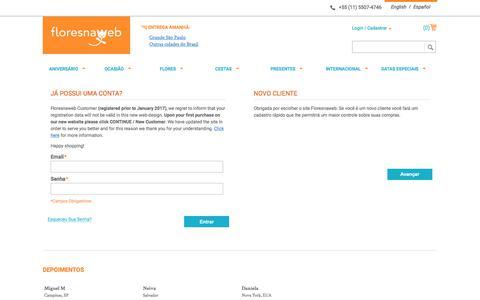 Screenshot of Login Page floresnaweb.com - Magento Commerce - captured June 6, 2017