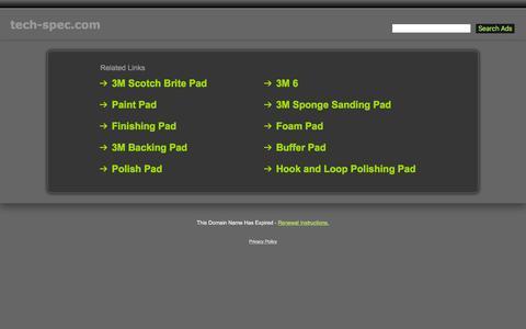 Screenshot of Home Page tech-spec.com - Tech-Spec.com - captured Jan. 28, 2017