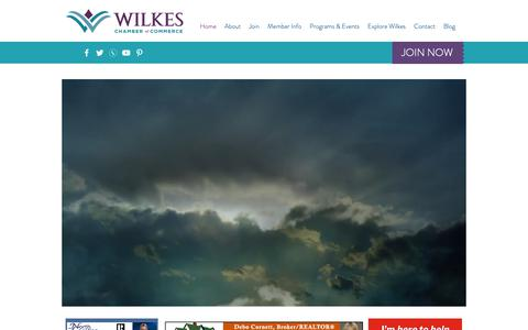 Screenshot of Home Page wilkeschamber.com - Wilkes Chamber of Commerce | North Wilkesboro | United States - captured Oct. 18, 2018