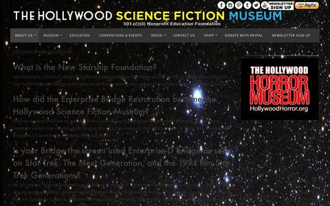 Screenshot of FAQ Page hollywoodscifi.org - FAQ - Hollywood Sci-Fi - captured Nov. 11, 2016