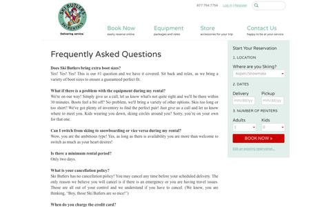 Frequently Asked Questions | Ski Butlers