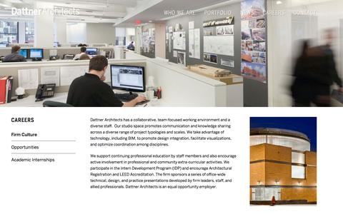 Screenshot of Jobs Page dattner.com - Firm Culture - Dattner Architects - captured Oct. 5, 2014