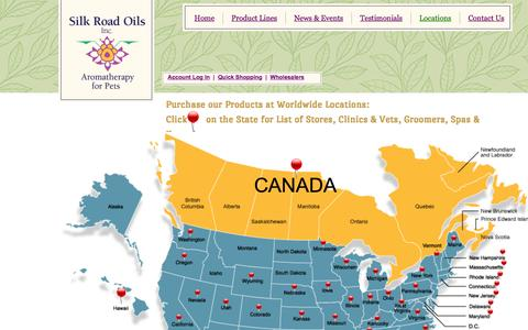 Screenshot of Locations Page silkroadoils.com - Locations - captured Feb. 4, 2016