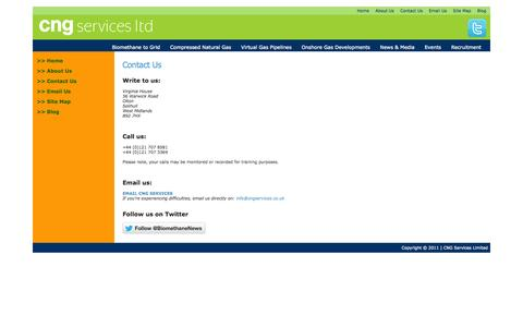Screenshot of Contact Page cngservices.co.uk - Contact Us » CNG Services - captured Oct. 27, 2014