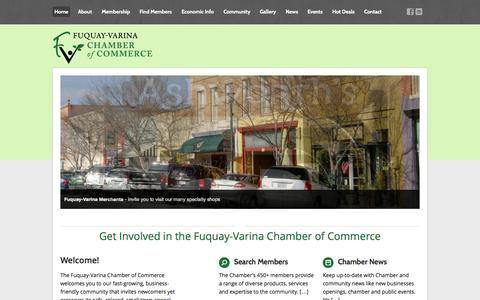 Screenshot of Home Page fuquay-varina.com - Home - Fuquay-Varina Chamber of Commerce - captured Oct. 6, 2014