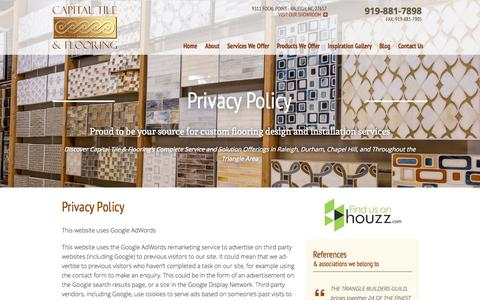 Screenshot of Privacy Page capitaltileandflooring.com - Privacy Policy - captured Nov. 1, 2014