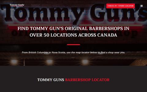 Screenshot of Locations Page tommyguns.com - Locations – Tommy Gun's Original Barbershop - captured Oct. 24, 2017