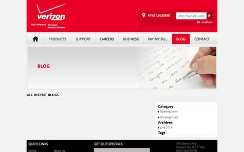 Screenshot of Blog yourwirelessinc.com - Blog | Verizon - captured Oct. 29, 2014