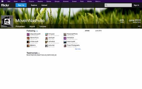 Screenshot of Flickr Page flickr.com - Flickr: MoveInNashville - captured Oct. 26, 2014