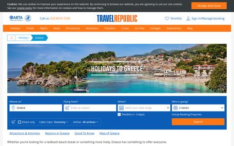 Cheap Holidays to Greece 2017/2018 | Travel Republic