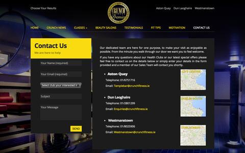 Screenshot of Contact Page crunchfitness.ie - Contact Us - Crunch Fitness - captured Oct. 3, 2014
