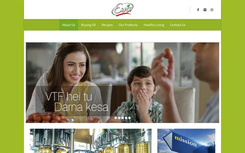 Screenshot of About Page eva.com.pk - About Us - Eva Cooking Oil - captured Oct. 27, 2017
