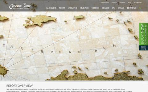 Screenshot of About Page cbayresort.com - About Us » Coconut Bay Beach Resort & Spa - captured Sept. 24, 2014