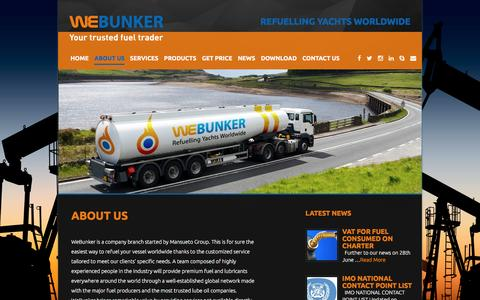 Screenshot of About Page webunker.com - About us «  WeBunker - captured Aug. 12, 2016