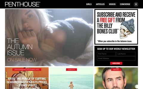 Screenshot of Home Page penthouse.com.au - Penthouse Australia Magazine - News, Interviews, Pets - captured July 1, 2018