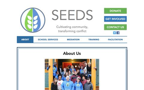 Screenshot of About Page seedscrc.org - About Us - captured Sept. 30, 2018