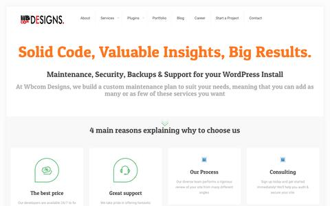 Screenshot of Home Page wbcomdesigns.com - WordPress BuddyPress Developers >> Wbcom Designs - captured Nov. 25, 2016