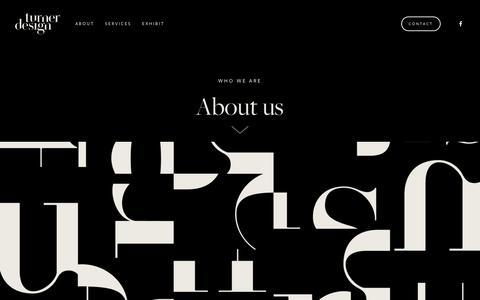 Screenshot of About Page turnerdesign.com.au - About — Turner Design - captured Oct. 20, 2018