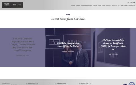 Screenshot of Press Page elitavia.com - Elit'Avia Business Aviation News - captured Dec. 8, 2015