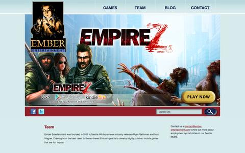 Screenshot of Team Page ember-entertainment.com - Team – Ember Entertainment - captured Sept. 16, 2014