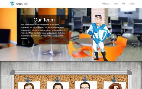 Screenshot of Team Page zenmate.com - About ZenMate - Meet the Team behind your favorite Plugin! - captured Jan. 17, 2016
