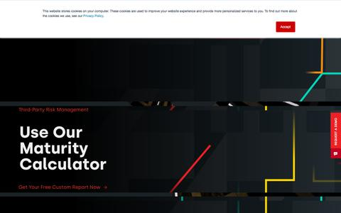 Screenshot of Home Page aravo.com - Aravo I Third-Party Risk Management Solutions - captured Jan. 10, 2020