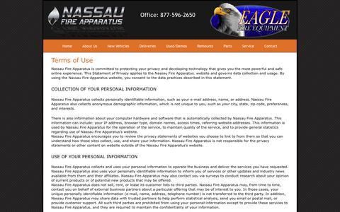 Screenshot of Terms Page nassaufire.com - Terms of Use - Nassau Fire - captured Oct. 19, 2017