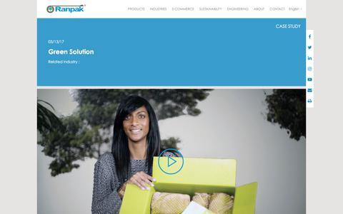 Screenshot of Case Studies Page ranpak.com - Ranpak - captured Oct. 7, 2017