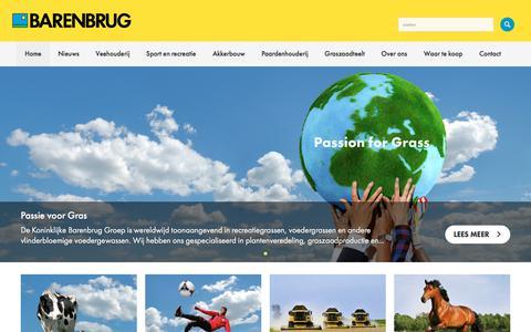 Screenshot of Home Page barenbrug.nl - Barenbrug Groot in Gras - captured Oct. 10, 2017