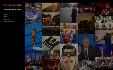 Screenshot of Home Page framerunner.com - Framerunner - captured Sept. 30, 2014