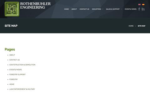 Screenshot of Site Map Page rothenbuhlereng.com - SITE MAP | Rothenbuhler Engineering - captured Oct. 23, 2017