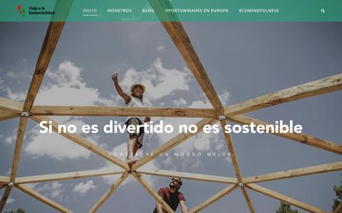 Screenshot of Home Page viajealasostenibilidad.org - Viaje a la Sostenibilidad - captured Jan. 2, 2018
