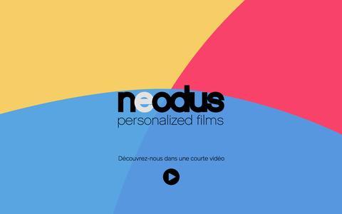 Screenshot of Home Page neodus.net - Neodus   Communiquez par vidéo interactive et personnalisée - captured Jan. 26, 2015