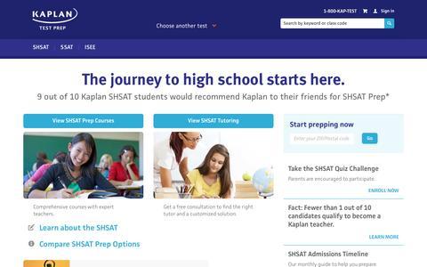 SHSAT Prep | Kaplan Test Prep