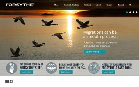 Screenshot of Home Page forsythe.com - Forsythe Technology Inc, The IT Infrastructure Integrator - Forsythe Technology - captured Oct. 10, 2014