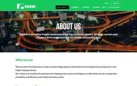 Screenshot of About Page riggoh.com - about - riggoh.com - captured July 8, 2018