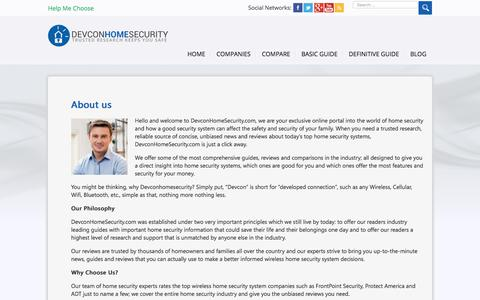 Screenshot of About Page devconhomesecurity.com - About us - Trusted Home Security Research - captured June 24, 2017