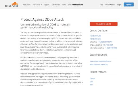 Advanced DDoS Protection and Mitigation | Cloudflare