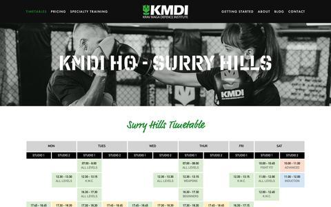 Screenshot of Locations Page kmdi.com.au - Surry Hills — Krav Maga Defence Institute | Sydney's #1 Self-Defence Gym - captured Dec. 20, 2018