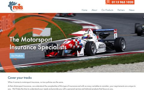 Screenshot of Home Page reis.co.uk - The Motorsport Insurance Specialists | Reis - captured March 3, 2016