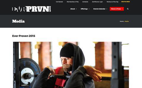 Screenshot of Press Page evrprvn.com - » Media - captured Aug. 30, 2017