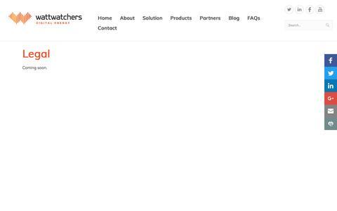 Screenshot of Terms Page wattwatchers.com.au - Legal - captured Dec. 13, 2016