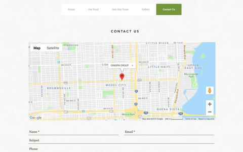 Screenshot of Contact Page graspagroup.com - Contact Us | Graspa Group - captured Feb. 15, 2019