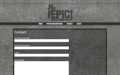 Screenshot of Contact Page epicgaminglounge.com - Contact | Epic Gaming Lounge - captured Oct. 2, 2014