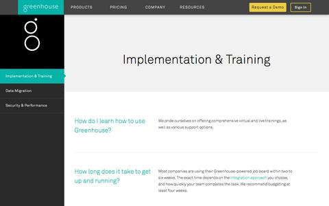 Greenhouse Implementation & Training | Greenhouse