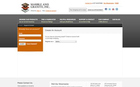 Screenshot of Login Page marbleandgranite.com - Stone Supplier - Marble and Granite - captured Oct. 27, 2014