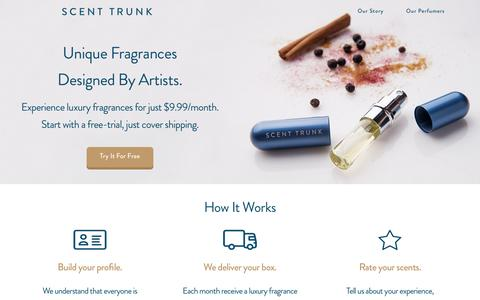 Screenshot of Trial Page scenttrunk.com - Scent Trunk Atomizer Trial - Scent Trunk - captured July 23, 2016