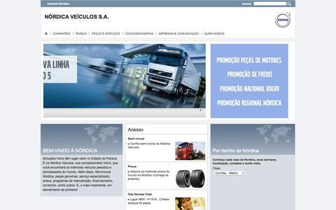 Screenshot of Home Page volvotrucks.com - index - Nordica : Nórdica Veículos S.A. - captured Aug. 16, 2015