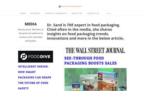 Screenshot of Press Page packagingtechnologyandresearch.com - Media - Packaging Technology & Research - captured Oct. 20, 2018